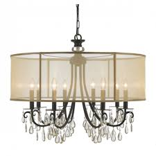 drum shade crystal chandelier debonair black monet 7 intended for fantastic crystal drum chandelier applied to your home idea