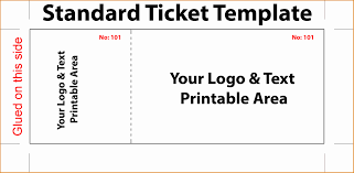 018 Free Printable Holiday Raffle Tickets Ticket Template