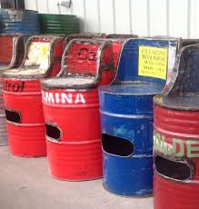 drum furniture. have you seen our oil drum furniture made from real recycled drums m