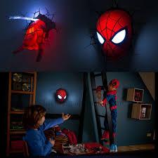 por kids wall lights lots. Creative Spiderman Night Light 3d Wall Lamp Amazing Baby Room Decoration Lampada De Parede Por Kids Lights Lots