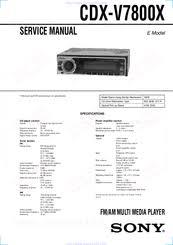 sony cdx v7800x manuals Sony Cdx Gt210 Wiring Diagram sony cdx v7800x service manual sony cdx gt200 wiring diagram