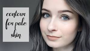 summer glow makeup contour for pale skin