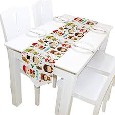 ALAZA Table Runner Home Decor,Cute Kids in <b>Christmas Costume</b> ...