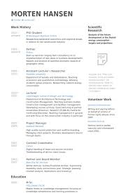 phd student Resume example