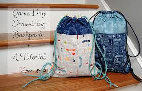 Drawstring Backpack Pattern Gorgeous Game Day Drawstring Backpacks A Tutorial