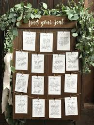 Wedding Table Seating Chart Find Your Seat Seating Chart Board Rustic Seating Sign Wood