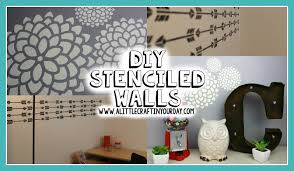 on diy stencil canvas wall art with diy stenciled wall easy diy teen room decor youtube