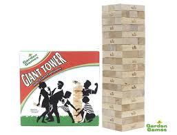 tumble tower giant wooden block tower tumbling wooden blocks outdoor garden