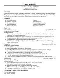 Restaurant Resume Template Restaurant 3 Resume Templates Sample Resume Resume Examples Resume