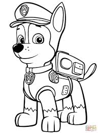 Skye Marshall And Rocky Coloring Page Paw Patrol Free Gerrydraaisma