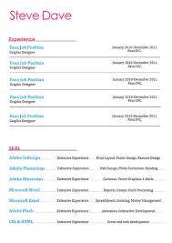 44 Amazing Resume / Cv Examples