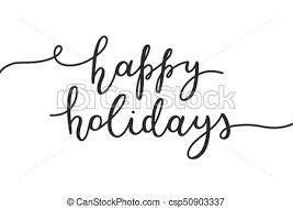 happy holidays black and white. Exellent Holidays Happy Holidays Lettering  Csp50903337 With Happy Holidays Black And White C