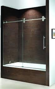 exotic frameless bathtub doors bathtub doors sliding tub enclosure single door slider with fixed delta frameless