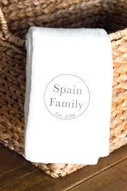 personalized kitchen towels embroidered name