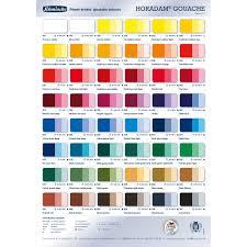 Schmincke Horadam Gouache Color Chart Jacksons Art Supplies