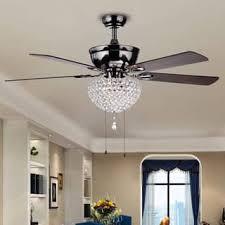 ceiling fan deals. taliko 3-light crystal basket 5-blade wood with black metal housing 52- ceiling fan deals