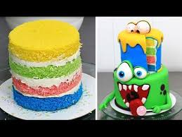 Halloween Monsters Cake How To Make By Cakes Stepbystep Youtube
