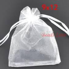 aa jewelry 200pcs white jewelry ng drawable organza bags wedding gift bags 9cmx12cm aa