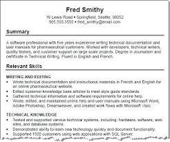 Sample Resume Skills Skills List For Resume Examples Gallery Of