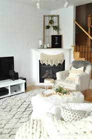 Rustic Scandinavian Living Room and Eating Area: Make over using neutrals,  texture, mixing