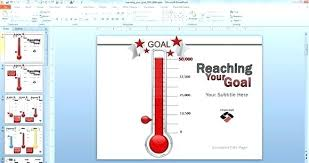 Fundraising Thermometer Template Excel Theworldtome Co