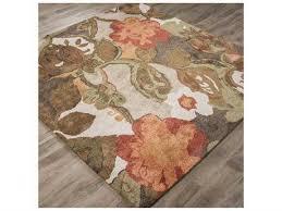 jaipur rugs blue petal pusher 6 square mahogany area rug