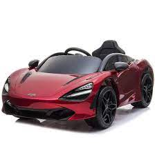 Mclaren 720s 12v 1 Seater Kids Ride On Car With Remote Control Red In 2021 Kids Ride On Mclaren Car