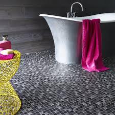Flooring Ideas Corner Built In Bathtub Near Small Glass Door - Non slip vinyl flooring for bathrooms
