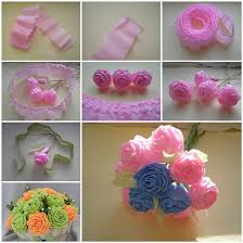 How To Make Flower Using Crepe Paper Crape Paper Flower Making Zlatan Fontanacountryinn Com