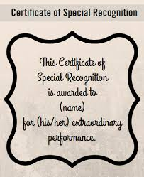Certificate Of Recognition Wordings Certificate Wording For Healthcare Industries Award Certificate