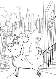 Small Picture The Secret Life Of Pets Coloring Pages GetColoringPagescom