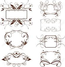 vine ornate frame scroll background decorative elements stock vector 13055097