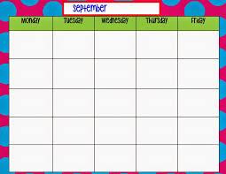 Monday To Friday Schedule Monday Through Friday Calendar Template Preschool Pinterest