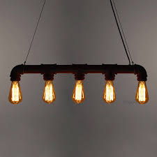 industrial pipe lighting. Fully Dimmable Fitting And Light Bulbs Industrial Pipe Lighting Notonthehighstreet.com