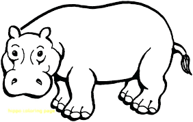 Baby Hippo Coloring Pages Cute Baby Hippo Coloring Pages Page With
