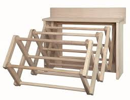 wood clothes drying rack