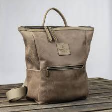 backpack leather for women hukkepakk in brown