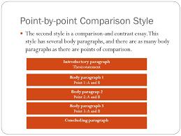 comparison contrast essay ppt  point by point comparison style