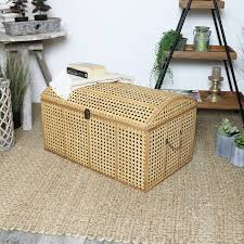 woven rattan storage trunk
