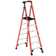 werner 8 ft fiberglass type 1a 300 lbs capacity podium step ladder