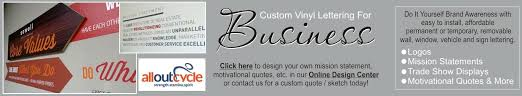 custom large scale vinyl wall window and sign art for your business design your own on business logo wall art with large scale business wall decals mission statement wall art