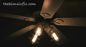 38 ceiling fan with edison bulbs collectibles