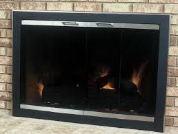 brushed nickel fireplace doors fireplace ideas gallery blog black fireplace doors