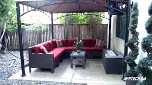 red patio furniture cushions for l shaped with white cushion canada