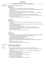 Hvac Resume Samples Hvac Resume Samples Velvet Jobs 12