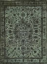 unique high quality 9x12 hand knotted wool fl blue overdyed area rug