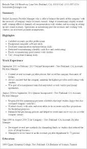 Sample Resume For Accounts Payable And Receivable
