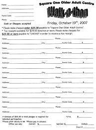 Walkathon Pledge Form Templates Walkathon Pledge Sheet Resume Examples Resume Template