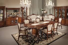modern brown varnished mahogany dining table