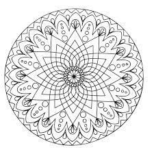 Mandala Abstrait Simple Coloriage Mandalas Coloriages Pour Enfants